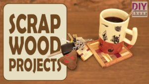 Scrap Wood Projects #1 - Cup Coaster and Key Chain